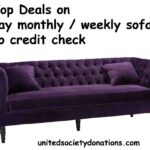 pay monthly sofas no deposit bad credit