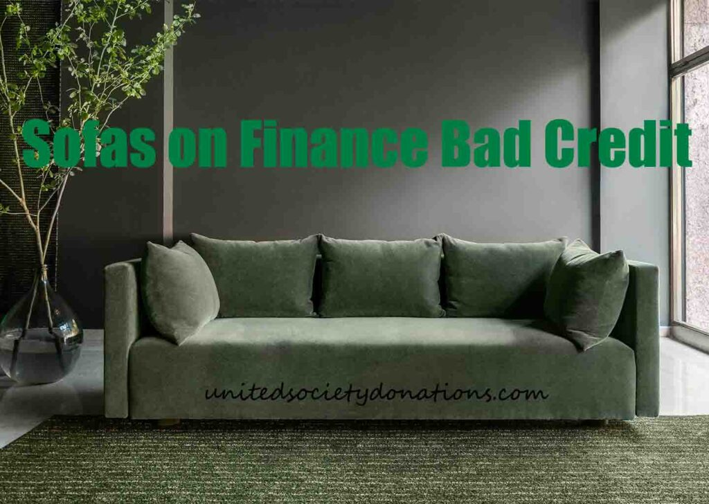 get a sofa on finance with bad credit